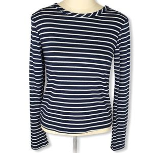 Olivia Rae Blue and White Striped Top Size M